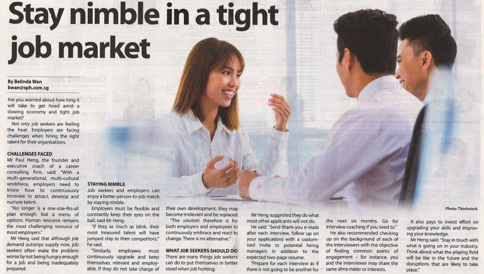 Stay nimble in a tight job market